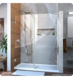 "DreamLine SHDR-20- Unidoor W 53"" to 61"" Frameless Hinged Shower Door"