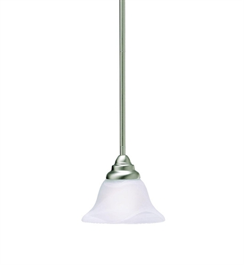 Kichler 3476NI Telford Collection Mini Pendant 1 Light in Brushed Nickel