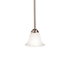 Kichler Dover Collection Mini Pendant 1 Light in Brushed Nickel