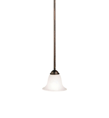 Kichler 2771TZ Dover Collection Mini Pendant 1 Light in Tannery Bronze
