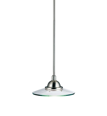 Kichler 2641NI Galaxie Collection Mini Pendant 1 Light in Brushed Nickel