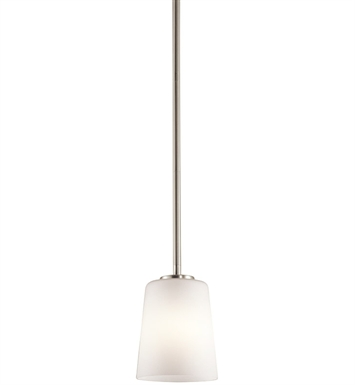 Kichler 43089NI Arvella Collection Mini Pendant 1 Light in Brushed Nickel