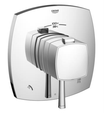 "Grohe 19947000 Grandera 6 3/4"" Dual Function Thermostatic Trim with Control Module With Finish: StarLight Chrome"