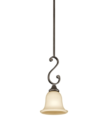 Kichler 43162OZ Monroe Collection Mini Pendant 1 Light in Olde Bronze