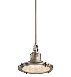 Kichler Sayre Collection Mini Pendant 1 Light in Antique Pewter