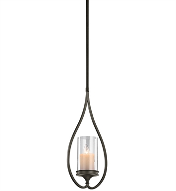 Kichler 42865SWZ Lara Collection Mini Pendant 1 Light in Shadow Bronze