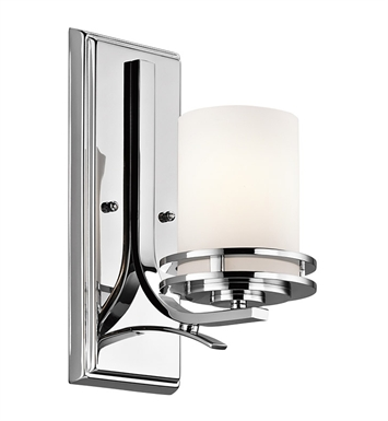 Kichler 5076CH Hendrik Collection Wall Sconce 1 Light in Chrome