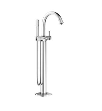"Grohe 23318000 Grandera 12 5/8"" Floor Mounted Bathroom Tub Filler with Handshower With Finish: StarLight Chrome"