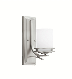 Kichler 5076NI Hendrik Collection Wall Sconce 1 Light in Brushed Nickel