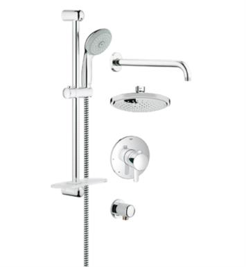 "Grohe 35051000 Europlus 24 1/2"" GrohFlex Pressure Balance Valve Shower Set in Chrome"