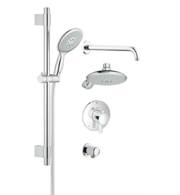 "Grohe 35052000 Europlus 23 5/8"" GrohFlex Thermostatic Valve Shower Set in Chrome"