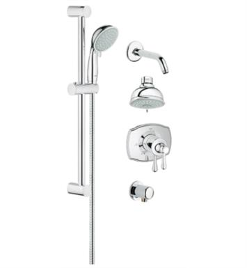 "Grohe 35053000 GrohFlex 24 1/2"" Wall Mount Thermostatic Valve Shower Set With Finish: StarLight Chrome"