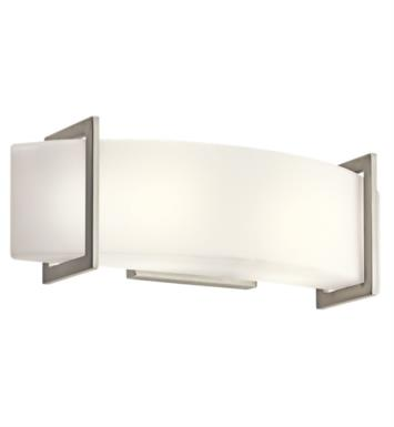 "Kichler 45218NI Crescent View 2 Light 18"" Incandescent Linear Bath Light in Brushed Nickel"