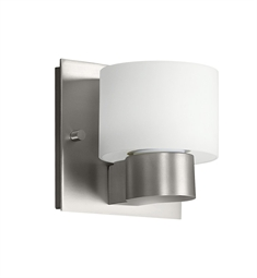 Kichler Adao Collection Wall Sconce 1 Light Fluorescent in Brushed Nickel