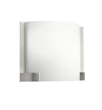Kichler 10620NI Nobu 2 Light Compact Fluorescent Wall Sconce in Brushed Nickel