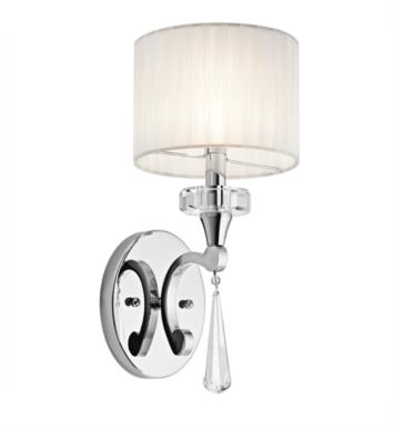 "Kichler 42634CH Parker Point 1 Light 6 3/4"" Incandescent Wall Sconce in Chrome"