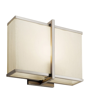 Kichler Rigel Collection Wall Sconce 1 Light Fluorescent in Satin Nickel
