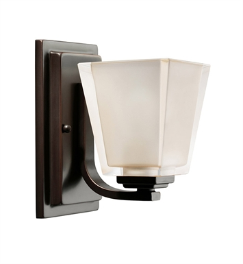 Kichler 5459OZ Urban Ice Collection Wall Sconce 1 Light in Olde Bronze