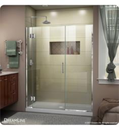 "DreamLine D130572 Unidoor-X W 59 1/2"" to 67"" x H 72"" Hinged Shower Door"