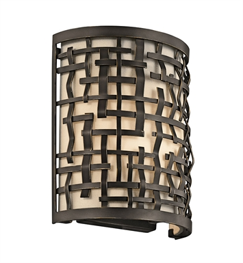 Kichler 43050OZ Loom Collection Wall Sconce 1 Light in Olde Bronze