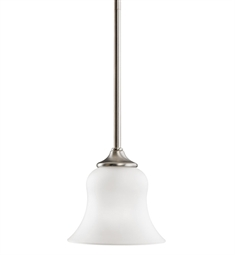 Kichler Wedgeport Collection Mini Pendant 1 Light in Brushed Nickel