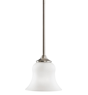 Kichler 3584NI Wedgeport Collection Mini Pendant 1 Light in Brushed Nickel