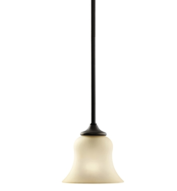 Kichler 3584OZ Wedgeport Collection Mini Pendant 1 Light in Olde Bronze