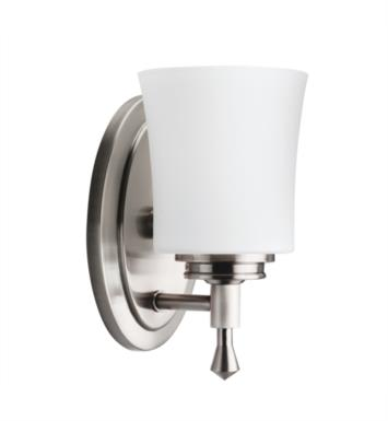 "Kichler 5359NI Wharton 1 Light 4 3/4"" Incandescent Wall Sconce in Brushed Nickel"