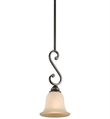 Kichler 43230OZ Camerena Collection Mini Pendant 1 Light in Olde Bronze