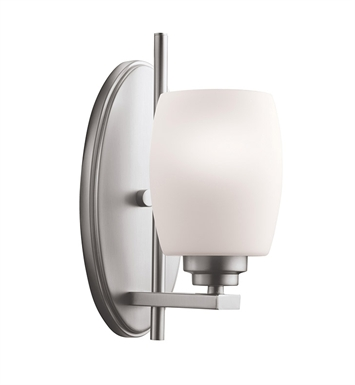 Kichler 5096NI Eileen Collection Wall Sconce 1 Light in Brushed Nickel