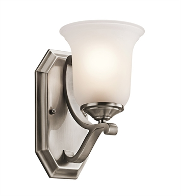 Kichler 45401CLP Wellington Square Collection Wall Sconce 1 Light in Classic Pewter