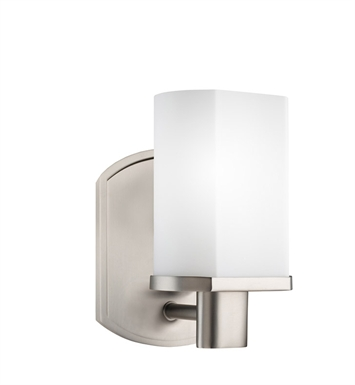 Kichler 5051NI Wall Sconce 1 Light in Brushed Nickel