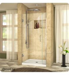"DreamLine SHDR-2457210 Unidoor Plus W 29 1/2"" to 37"" x H 72"" Hinged Shower Door with Clear Glass"