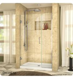 "DreamLine SHDR-2457210 Unidoor Plus W 37 1/2"" to 45"" x H 72"" Hinged Shower Door with Clear Glass"
