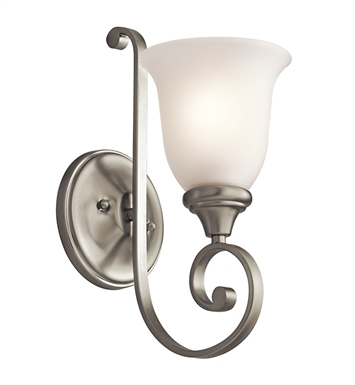 Kichler 43170NI Monroe Collection Wall Bracket 1 Light in Brushed Nickel