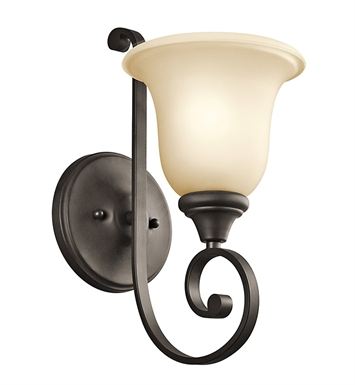 Kichler 43170OZ Monroe Collection Wall Bracket 1 Light in Olde Bronze