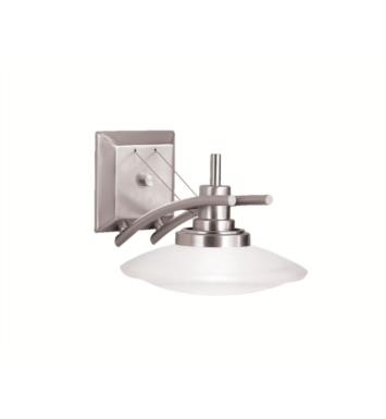 "Kichler 6963NI Structures 1 Light 9"" Halogen Wall Sconce in Brushed Nickel"