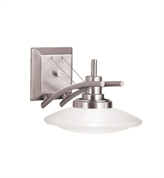 Kichler Structures Collection Wall Sconce 1 Light Halogen in Brushed Nickel