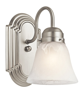 Kichler 5334NI Wall Sconce 1 Light in Brushed Nickel