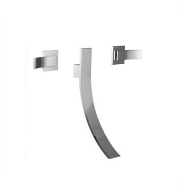 Santec 9929CU50-TM Ava Wall Mount Lavatory Widespread - Trim Only with CU Handles - Valves Not Included (Uses SA-CORNER-SET) With Finish: Polished 24K Gold <strong>(USUALLY SHIPS IN 4-5 WEEKS)</strong>