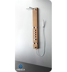 Fresca Pavia Stainless Steel Thermostatic Shower Massage Panel in Brushed Bronze