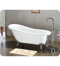 Cambridge Plumbing AST67 Acrylic Slipper Bathtub