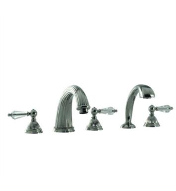 "Santec 1155LC14-TM Monarch Crystal II Roman Tub Filler Set With Hand Held Shower With ""LC"" Handles - (Uses P0003 Valve) With Finish: Gunmetal Grey <strong>(USUALLY SHIPS IN 4-5 WEEKS)</strong>"