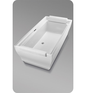 TOTO ABF626N#01DBN Aimes® Freestanding Bathtub With Finish: Cotton And Drain and Overflow Finish: Brushed Nickel