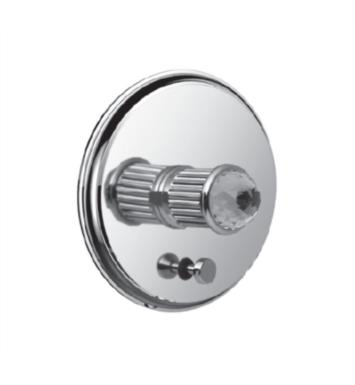 "Santec 1135CD15-TM Monarch Crystal I Pressure Balance Trim with ""CD"" Handle and Diverter - (Uses PB-3950 Valve) With Finish: Satin Chrome <strong>(USUALLY SHIPS IN 4-5 WEEKS)</strong>"
