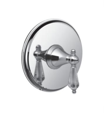 "Santec 2231KC36-TM Kriss Crystal Pressure Balance Trim with ""KC"" Handle - (Uses PB-3800 Valve) With Finish: Bright Victorian Copper <strong>(USUALLY SHIPS IN 4-5 WEEKS)</strong>"
