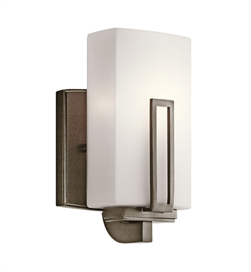 Kichler 45224SWZ Wall Sconce 1 Light in Shadow Bronze