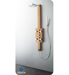 Fresca Lecco Stainless Steel Thermostatic Shower Massage Panel in Brushed Bronze
