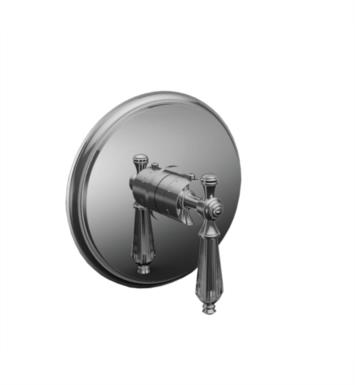 "Santec 7093KT56-TM Klassica Crystal Thermostatic Shower - Trim Only with KT Handle (Includes 3/4"" Trim Plate and Handle, Requires Separate Volume Control) Valve Not Included Uses TH-5034 Valve With Finish: Bright Victorian Bronze <strong>(USUALLY SHIPS IN 4-5 WEEKS)</strong>"