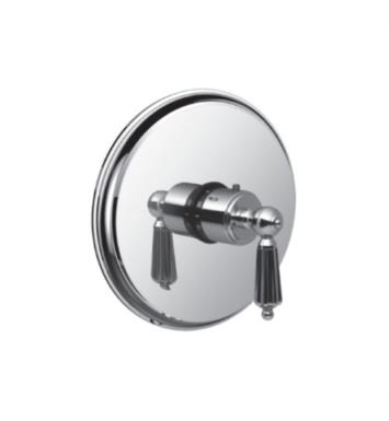 "Santec 7093LL80-TM Monarch I Thermostatic Shower - Trim Only with LL Handle (Includes 3/4"" Trim Plate and Handle, Requires Separate Volume Control) Valve Not Included Uses TH-5034 Valve With Finish: Standard Pewter <strong>(USUALLY SHIPS IN 4-5 WEEKS)</strong>"